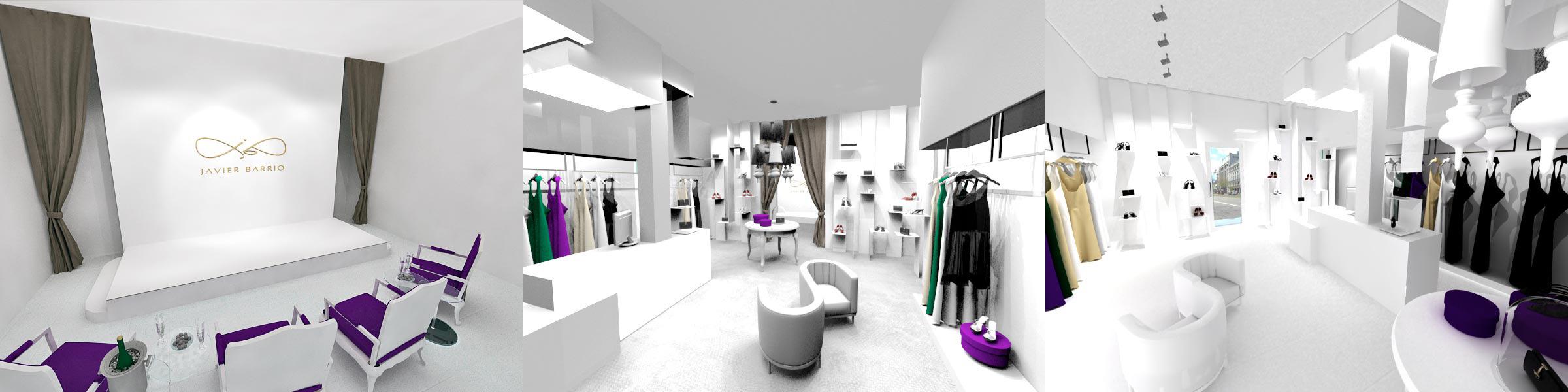 Fotografía de las tiendas de Javier Barrio Couture