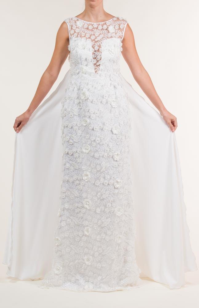 c 18 0345 001488 jb lb 18 2095 - Vestido de novia largo bordado en blanco con transparencias