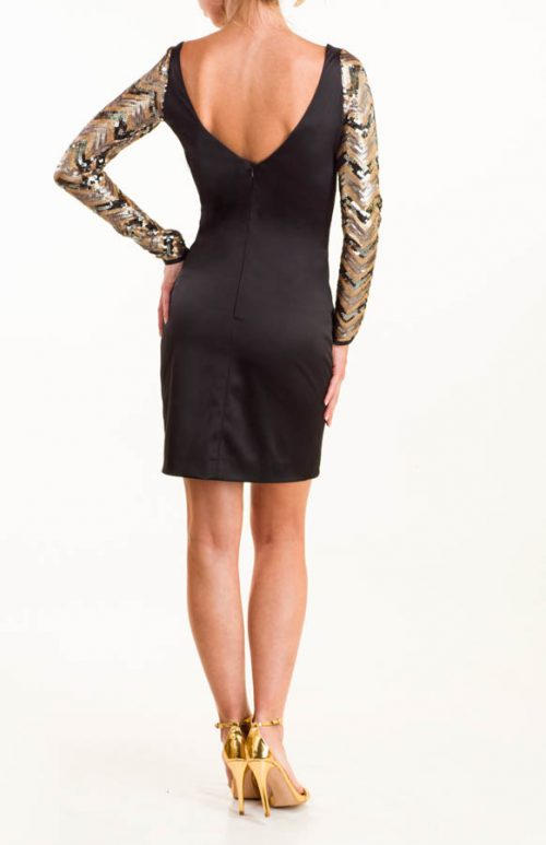 IMG 0079 2 Editar 500x773 - Vestido corto satén negro