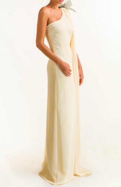 IMG 0083 Editar 500x773 - Vestido largo crepe vainilla