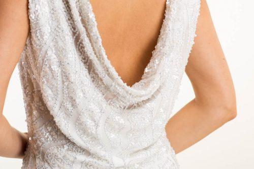 IMG 0208 500x333 - Vestido de novia largo con seda y pedrería