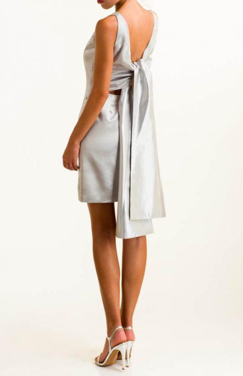 IMG 0292 Editar 500x773 - Vestido corto en tejido satén plata