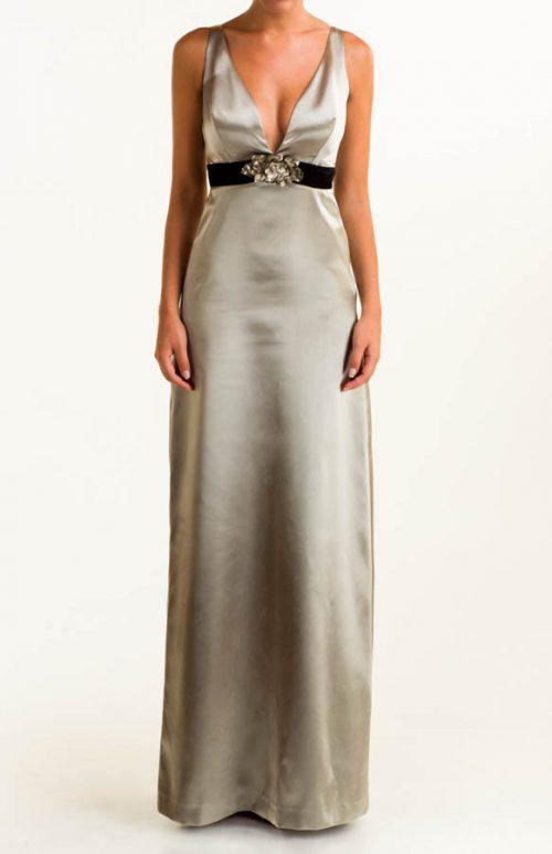 IMG 0378 Editar 500x773 - Vestido largo raso plata