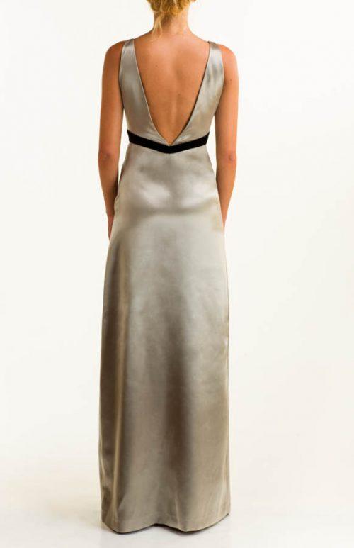 IMG 0386 Editar 500x773 - Vestido largo raso plata