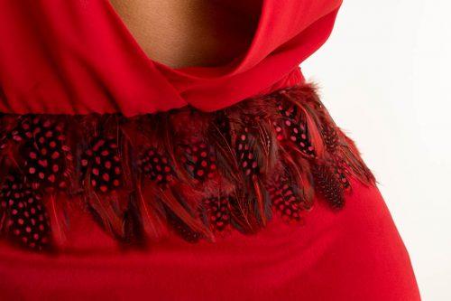 IMG 0590 500x333 - Vestido corto de lentejuelas burdeos