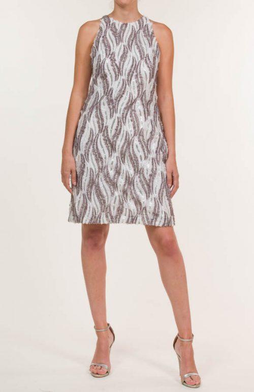 c 18 0345 001488 jb lb 18 1060 500x773 - Short dress in multicolored fabric