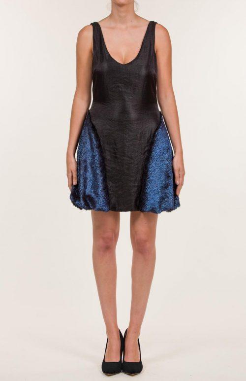 c 18 0345 001488 jb lb 18 1115 500x773 - Vestido corto negro con pelo sintético azul azur