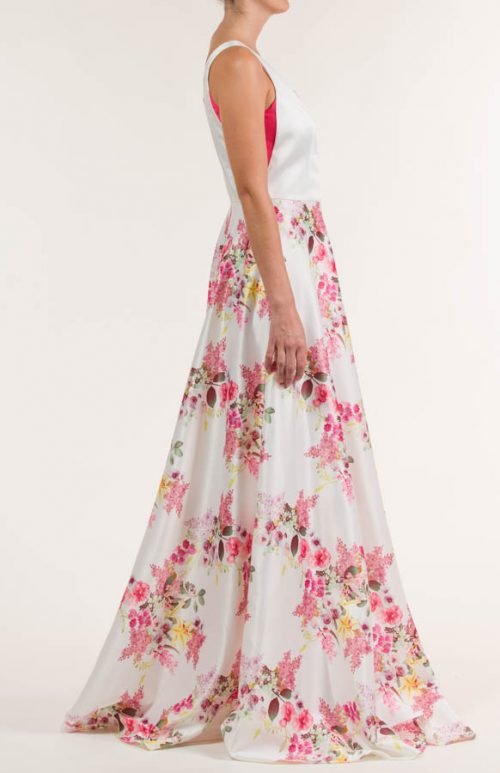 c 18 0345 001488 jb lb 18 2018 500x773 - Multicolor rayon long dress made of flowers