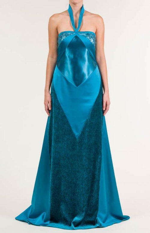 c 18 0345 001488 jb lb 18 2227 500x773 - Vestido largo azul Bondi con tejido satén, raso y terciopelo