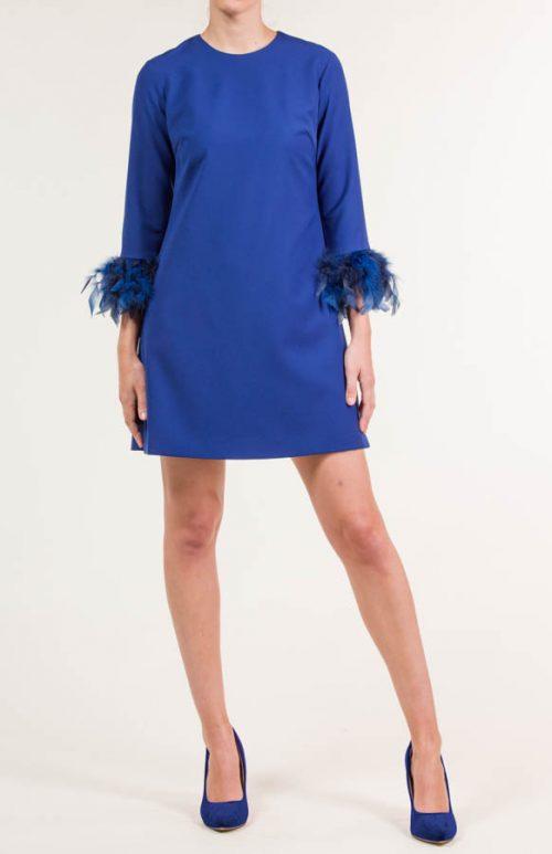 c 18 0345 001488 jb lb 18 2659 2 500x773 - Vestido corto crepe azul eléctrico