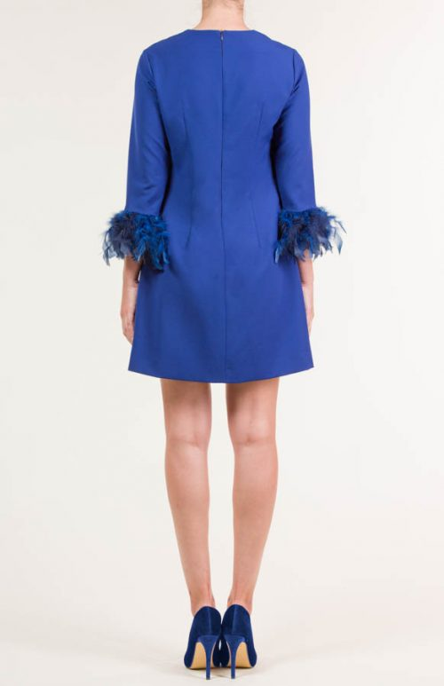c 18 0345 001488 jb lb 18 2663 2 500x773 - Vestido corto crepe azul eléctrico