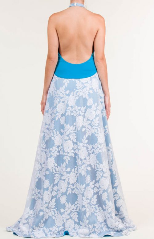 c 18 0345 001488 jb lb 18 2823 500x773 - Vestido largo de tejido de encaje con flores en azul