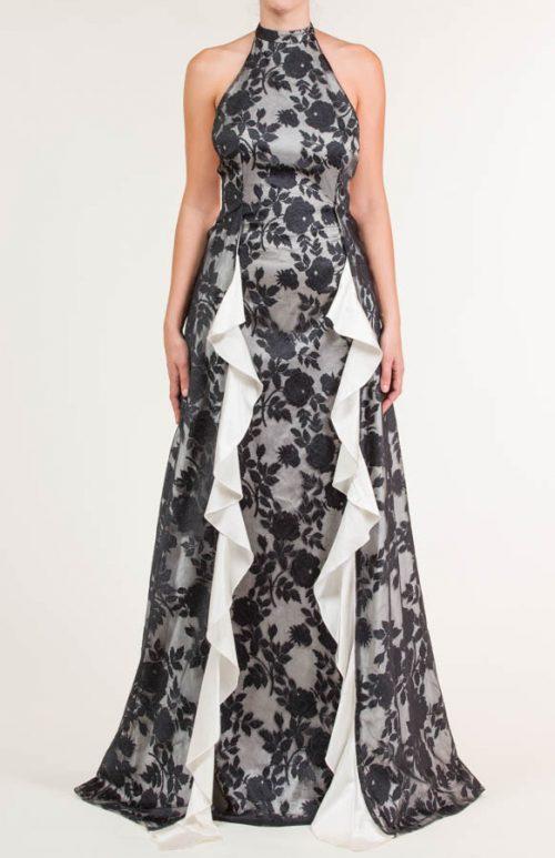 c 18 0345 001488 jb lb 18 2835 500x773 - Vestido largo con tejido de encaje de flores negro