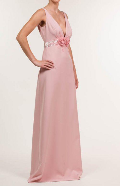 c 18 0345 001488 jb lb 18 296 1 500x773 - Matte pink salmon long crepe dress