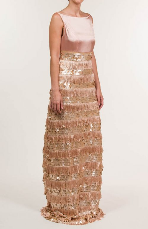 c 18 0345 001488 jb lb 18 376 2 500x773 - Terracotta fringed and sequined long dress