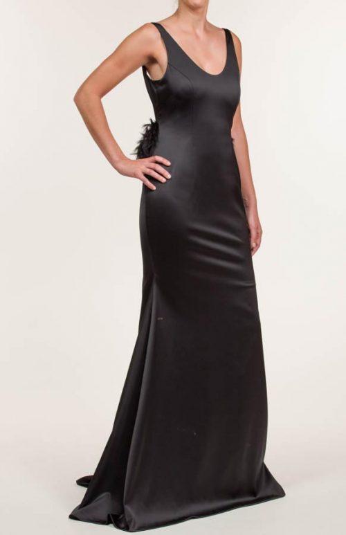 c 18 0345 001488 jb lb 18 558 500x773 - Vestido largo con tejido en satén con span negro