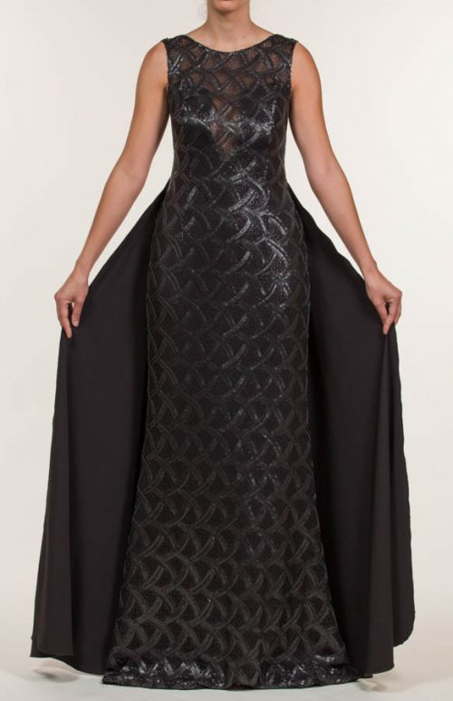 c 18 0345 001488 jb lb 18 968 500x773 - Black sequined crepe long dress