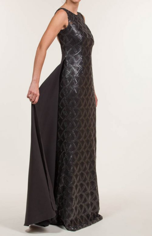 c 18 0345 001488 jb lb 18 972 500x773 - Black sequined crepe long dress
