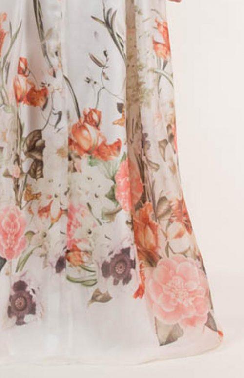 qqq 500x773 - Vestido largo con estampado floral