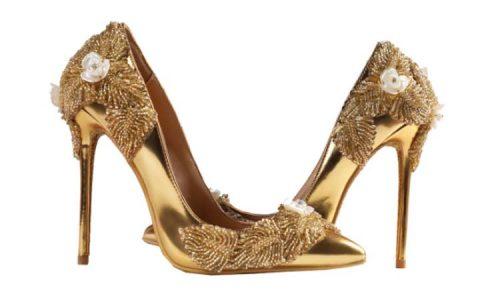 Tacones dorados Lady Example