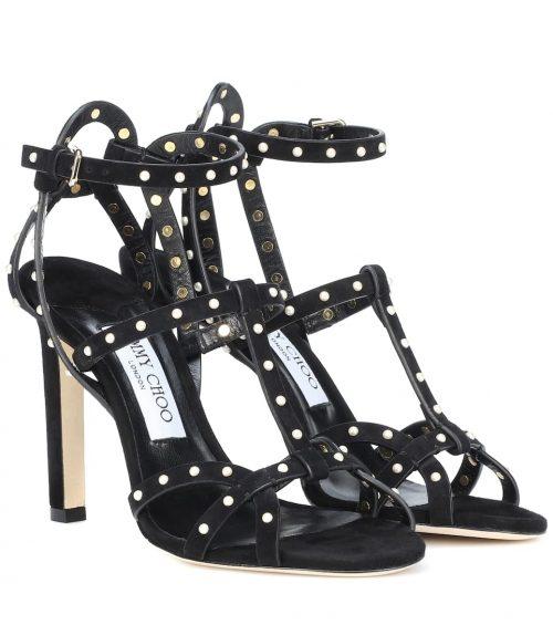 Sandalias de gamuza negras