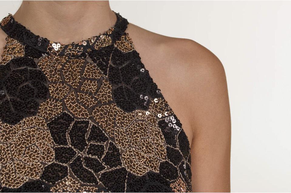 lentejuelas vestido javier barrio couture - Brilla con luz propia, gracias a las lentejuelas en tu vestido