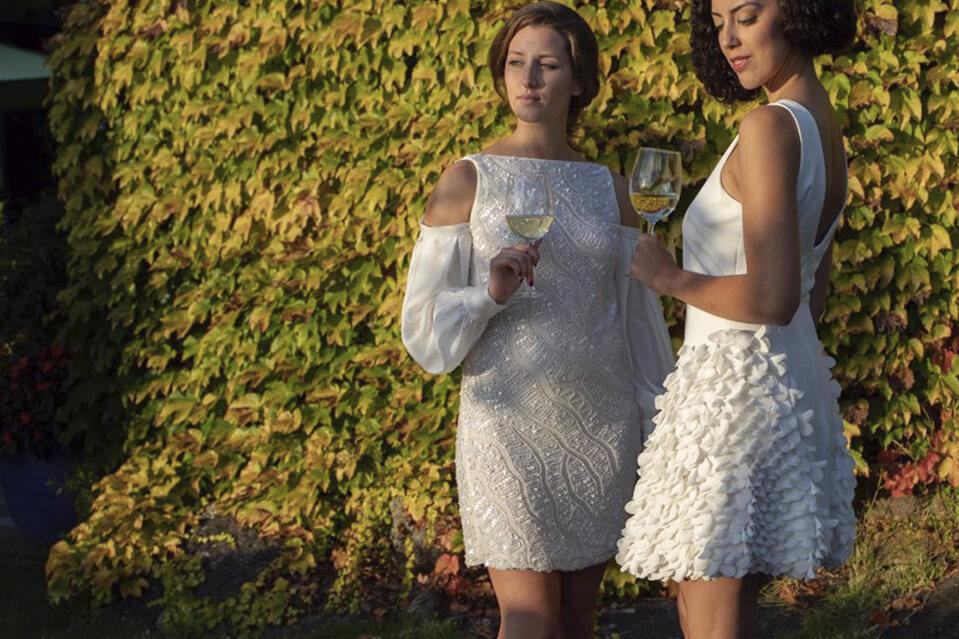 vestidos cortos alta costura eventos dia javier barrio - Los mejores vestidos cortos alta costura para tus eventos de día